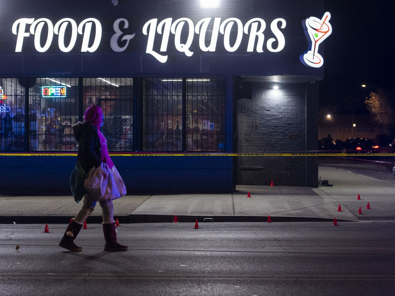 Two people were injured in a shooting Nov. 18, 2020 at Lawndale liquor store.