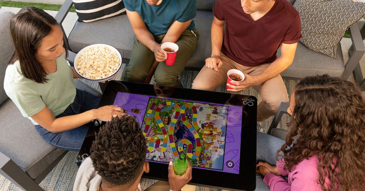 Arcade1Up's new digital board game table will be available for preorder in July