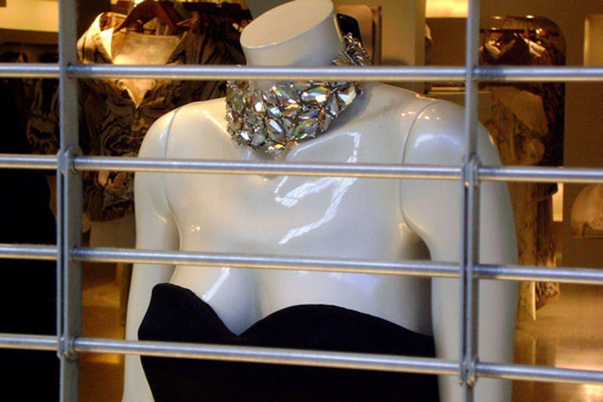 "Alexander McQueen's window display.  Photo via <a href=""http://www.flickr.com/photos/jetsetcd/3477491757/in/pool-rackedny"">JetSetCD</a>/Racked Flickr Pool"