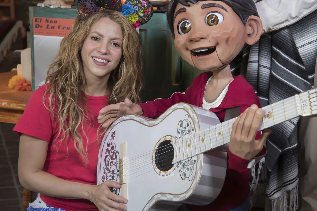 Shakira Visits Disney California Adventure
