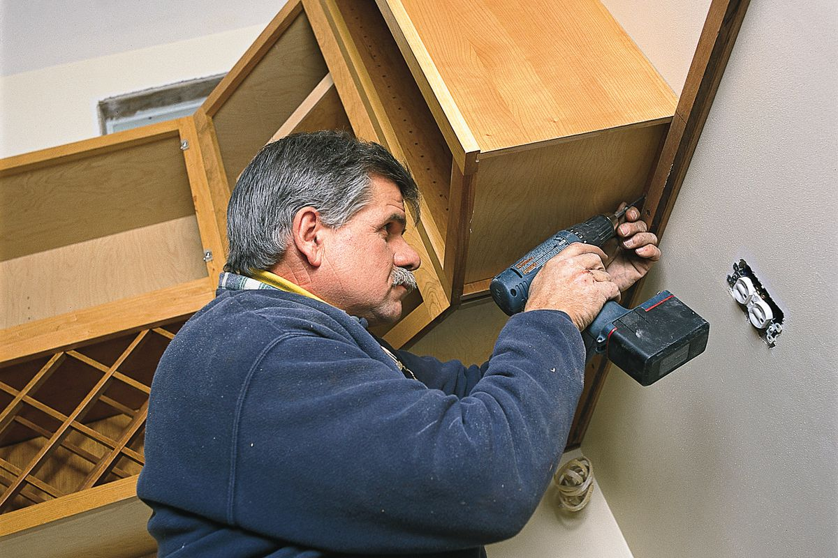 How To Hang Kitchen Cabinets This Old House