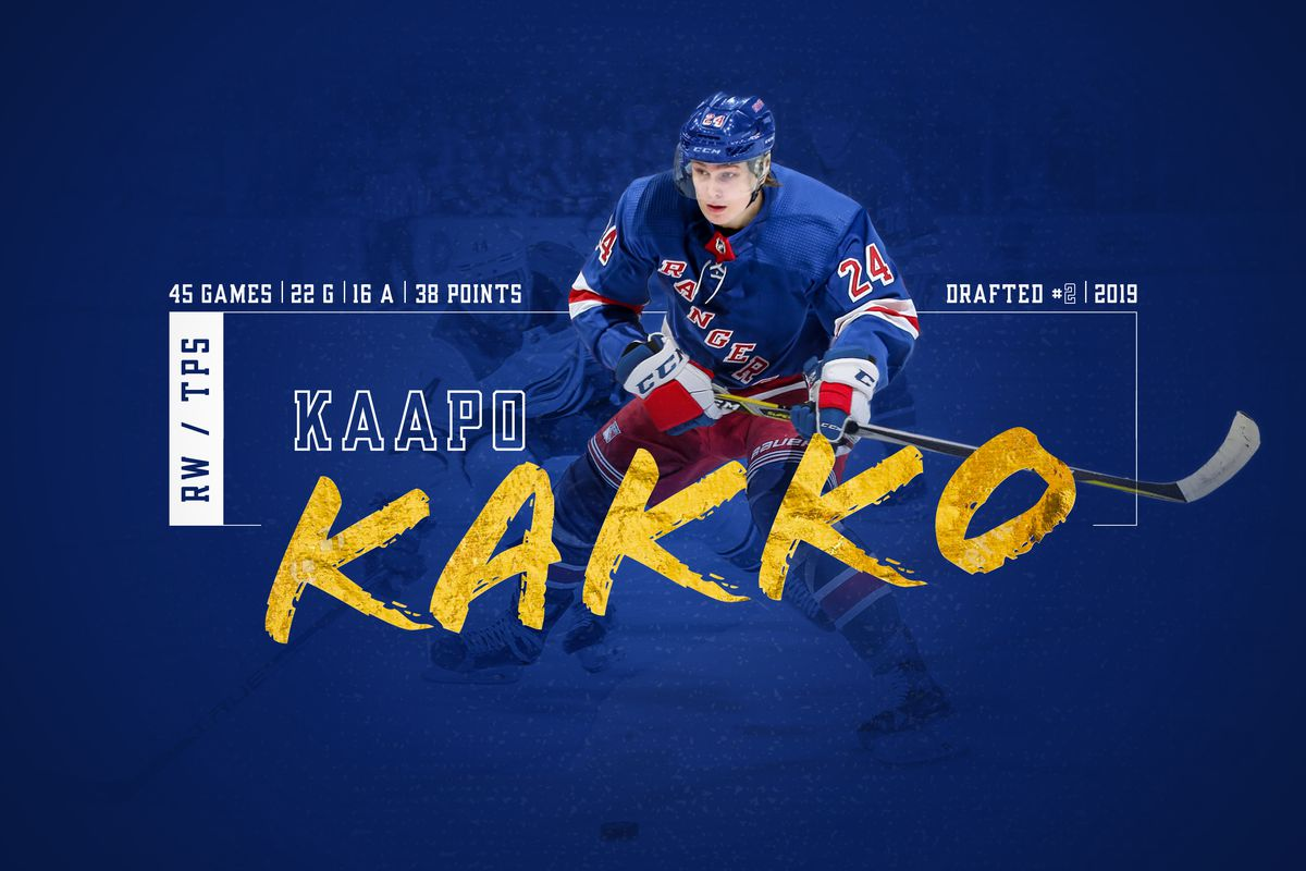 new products 62d98 8a61f Kaapo Kakko: New York Rangers Select Forward 2nd Overall at ...