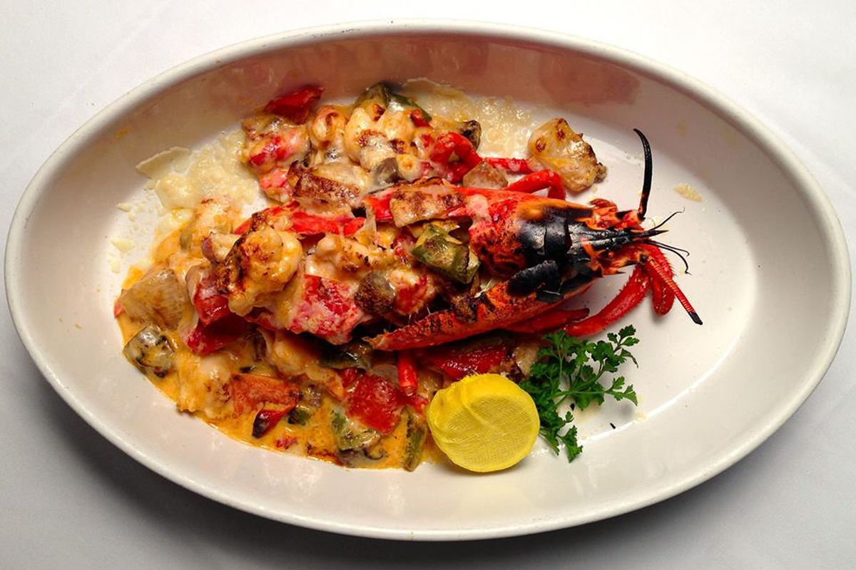 A lobster dish at Abe & Louie's