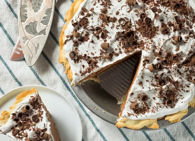 A French silk pie from Buzz Bakeshop and Neighborhood Provisions