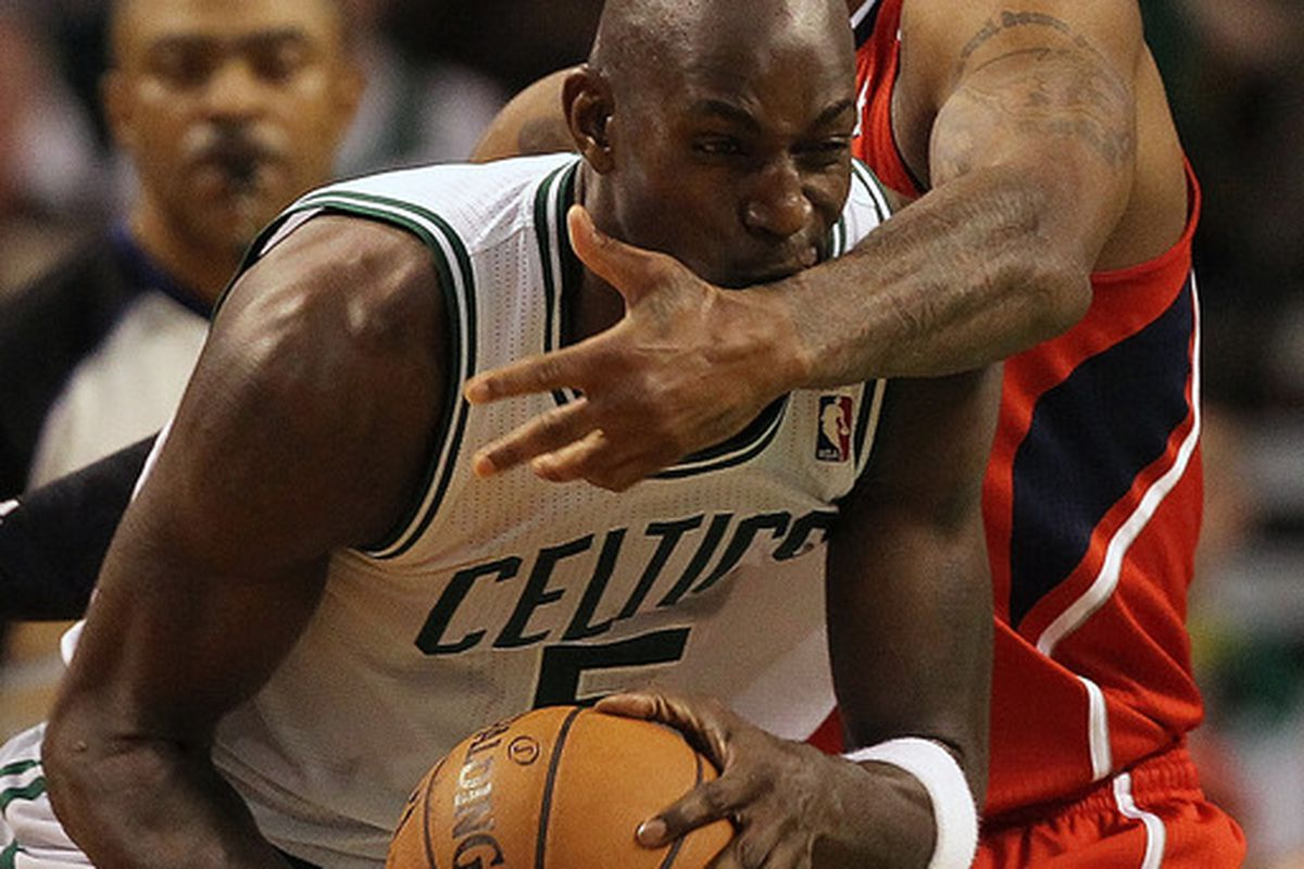 Kevin Garnett is a hungry, hungry man. Jim Rogash/Getty Images