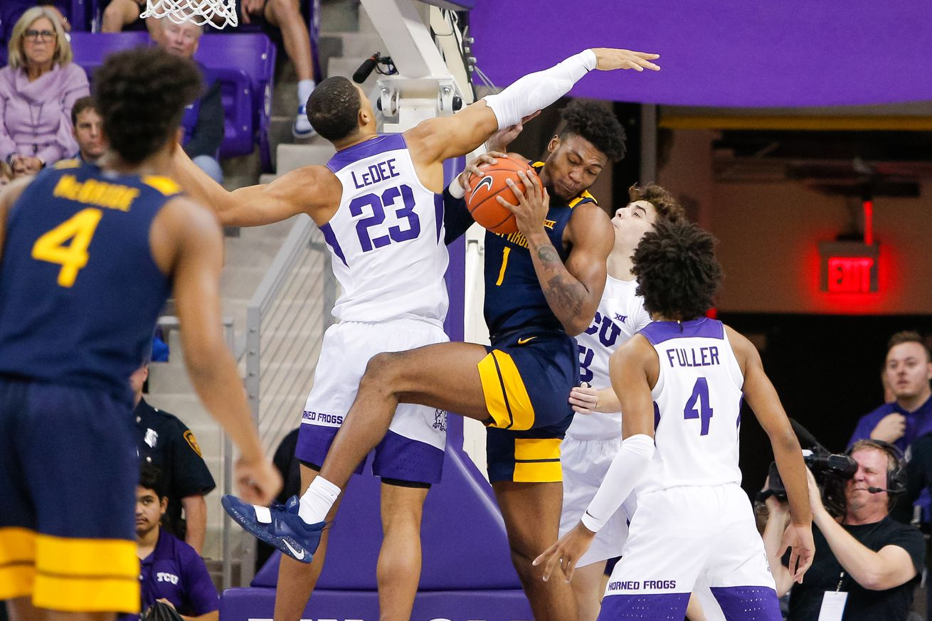 West Virginia loses on the road... again.  WVU 60, TCU 67