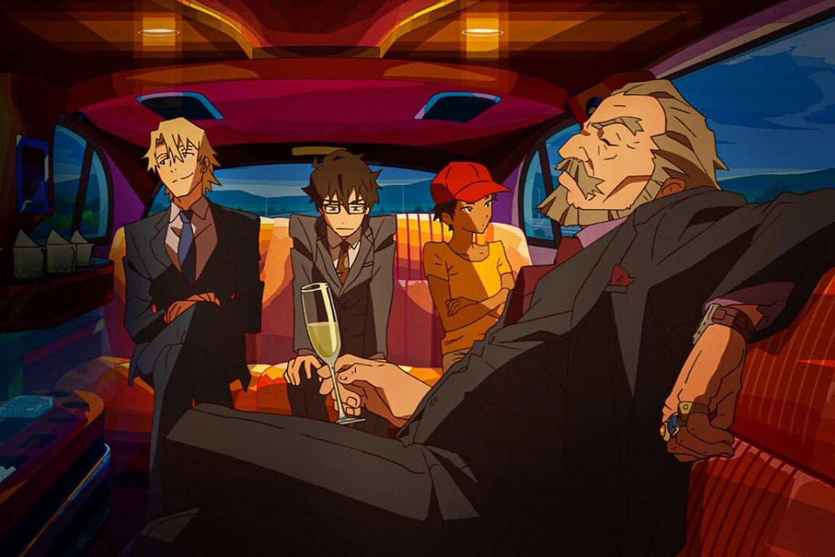 the crew from Great Pretender anime