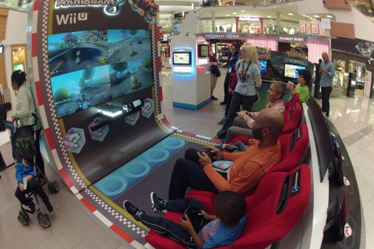 Wii U Arcade Machine : Nintendo turns mario kart into an arcade machine takes