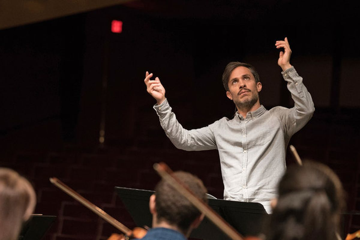 Gael García Bernal plays the visionary, possibly off-his-rocker conductor Rodrigo in Mozart in the Jungle.