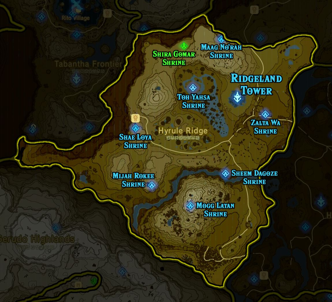 Zelda: Breath of the Wild shrine maps and locations - Polygon