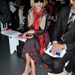 Anna Wintour at the Nicole Farhi show on September 18th in London.