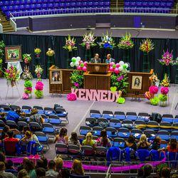 Setting of the Kennedy Hansen funeral at Weber State University in Ogden, Thursday, June 5, 2014.