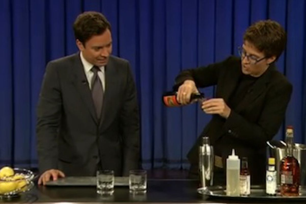 Rachel Maddow Shows Jimmy Fallon How To Make A Sazerac Eater