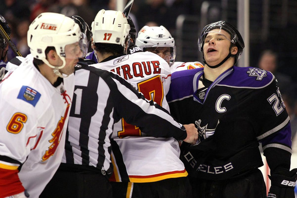 Dustin Brown is a diving machine. How he doesn't get a penalty for that every other game, I'll never know.