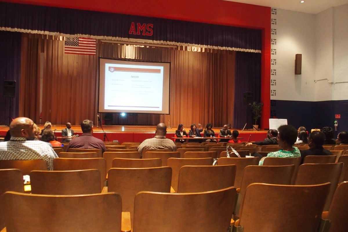 A few dozen community members attend Monday's meeting, where Shelby County Schools Superintendent Dorsey Hopson presented plans to close Airways Middle School after its charter operator pulled out of the transition process.