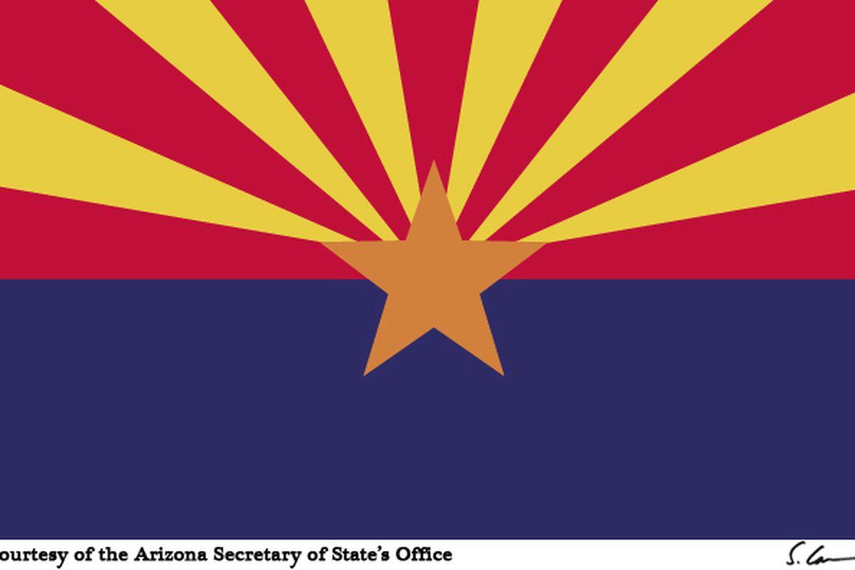 """via <a href=""""http://www.azsos.gov/Images/State_Symbols/azflag.jpg"""">www.azsos.gov</a>"""