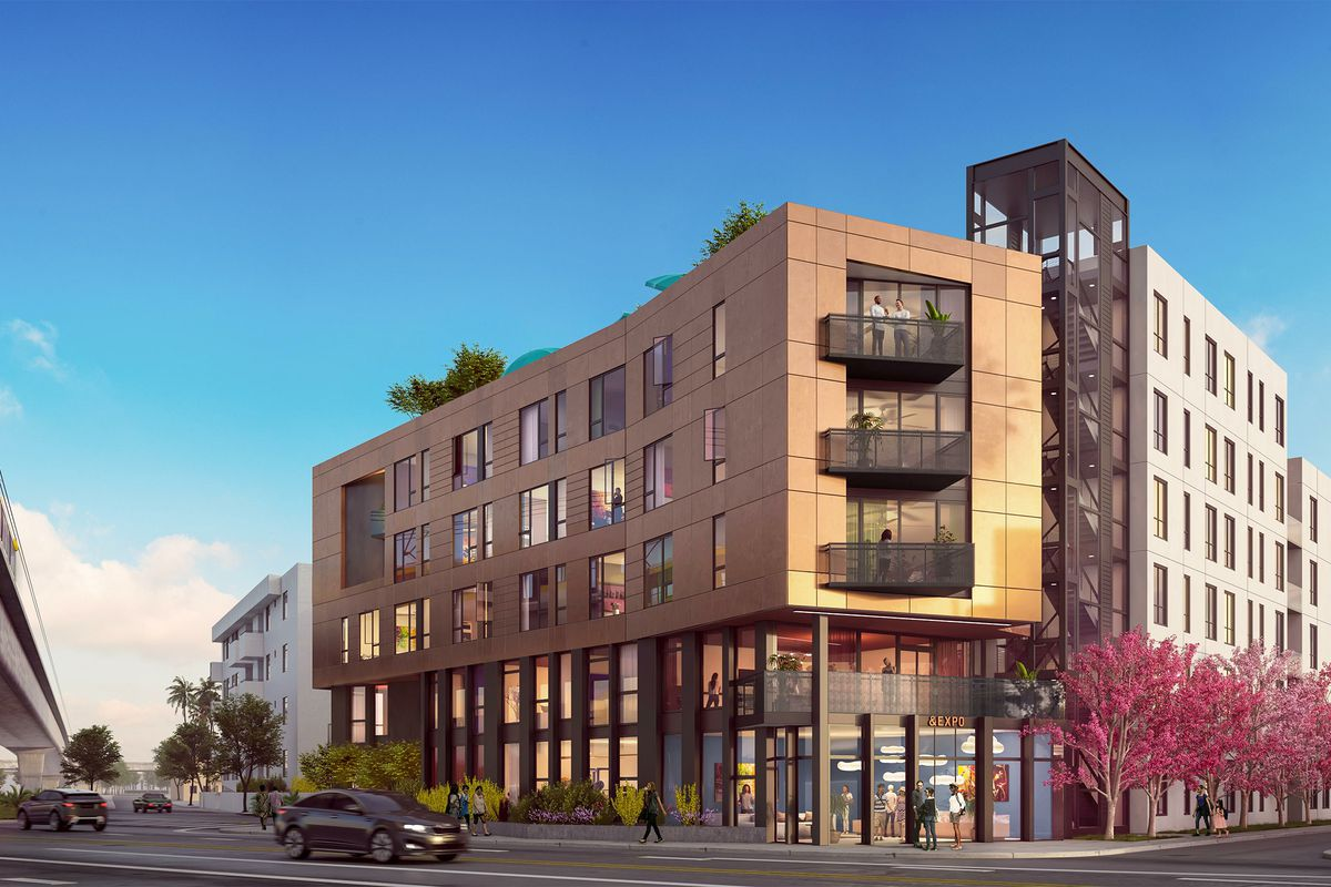 A rendering of the six-story project.