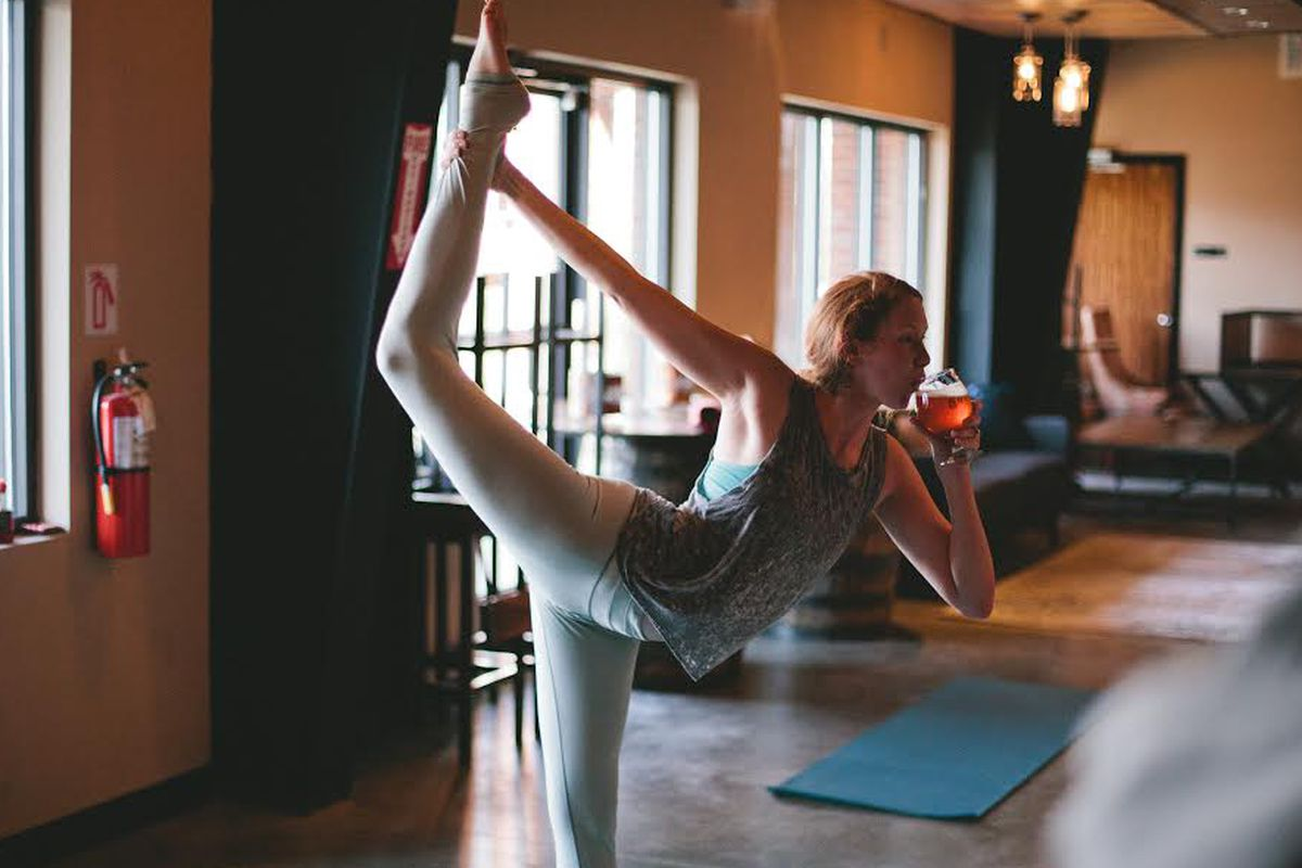 Yoga and Beer: An Unlikely Match - Eater