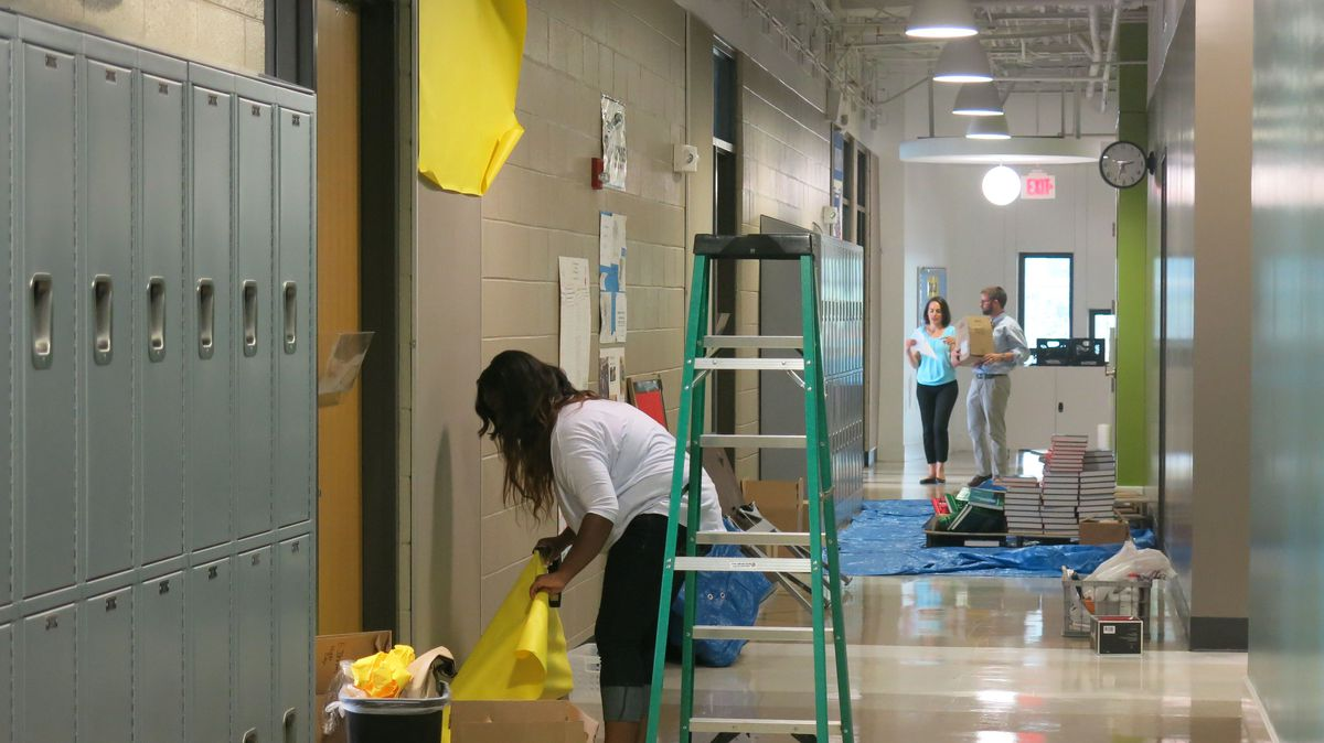 Teachers and staff are preparing the school for students' first day – August 4.