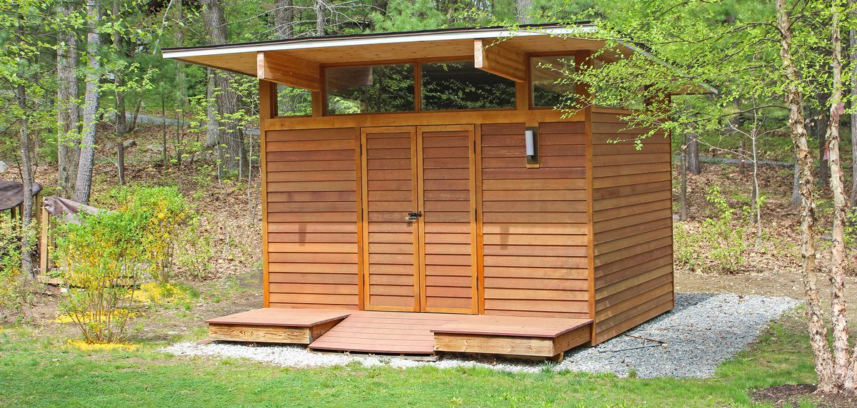Modern Garden Shed With Flat Roof