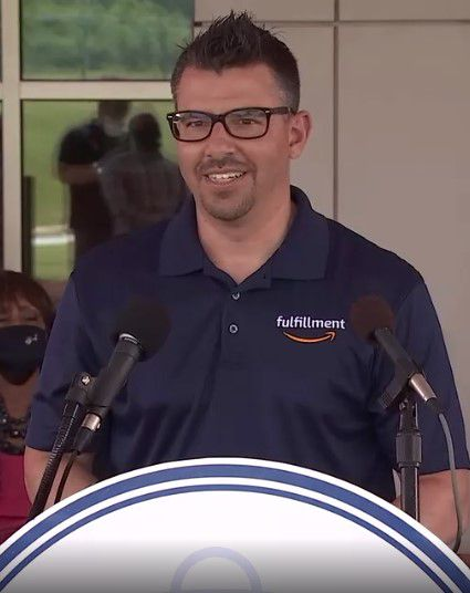 Mike Flannery, regional director of Amazon Operations, announced two new fulfillment centers in the south suburbs.
