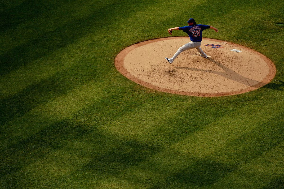 Jeff Samardzija of the Chicago Cubs delivers a pitch against the New York Mets at Citi Field in the Flushing neighborhood of the Queens borough of New York City.  (Photo by Mike Stobe/Getty Images)