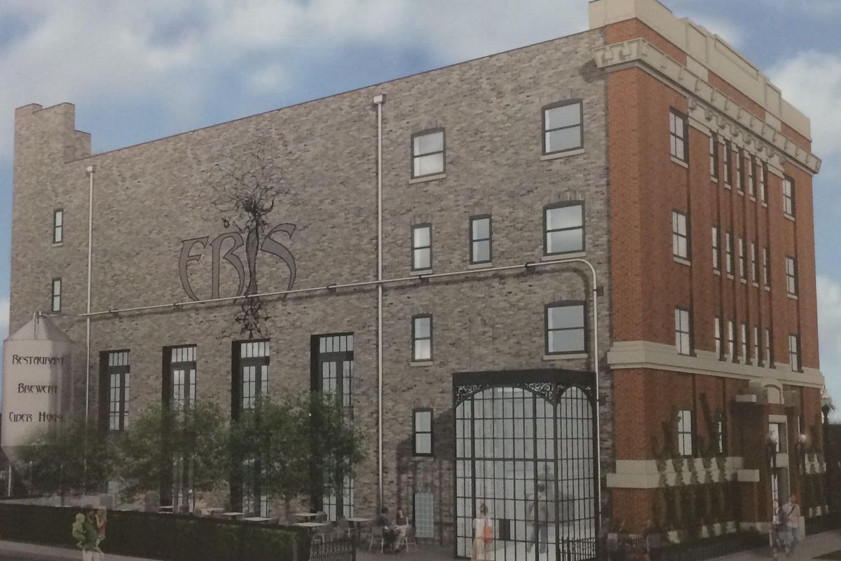 A rendering of Eris Cider House and Brewery