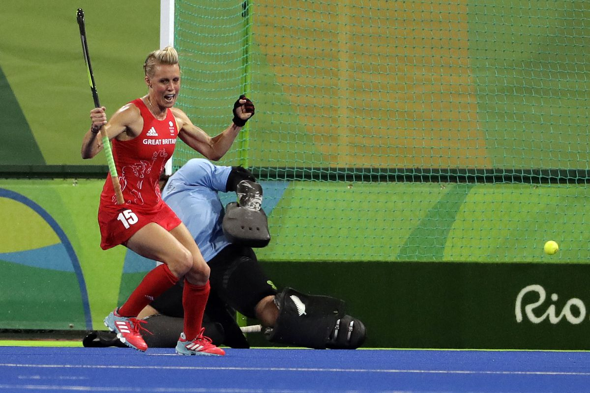 Field hockey player Alex Danson-Bennett, who helped Britain win a gold medal at the 2016 Rio Olympics, announced her retirement Thursday after failing to recover from head trauma caused by hitting a brick wall hard while laughing at a joke.