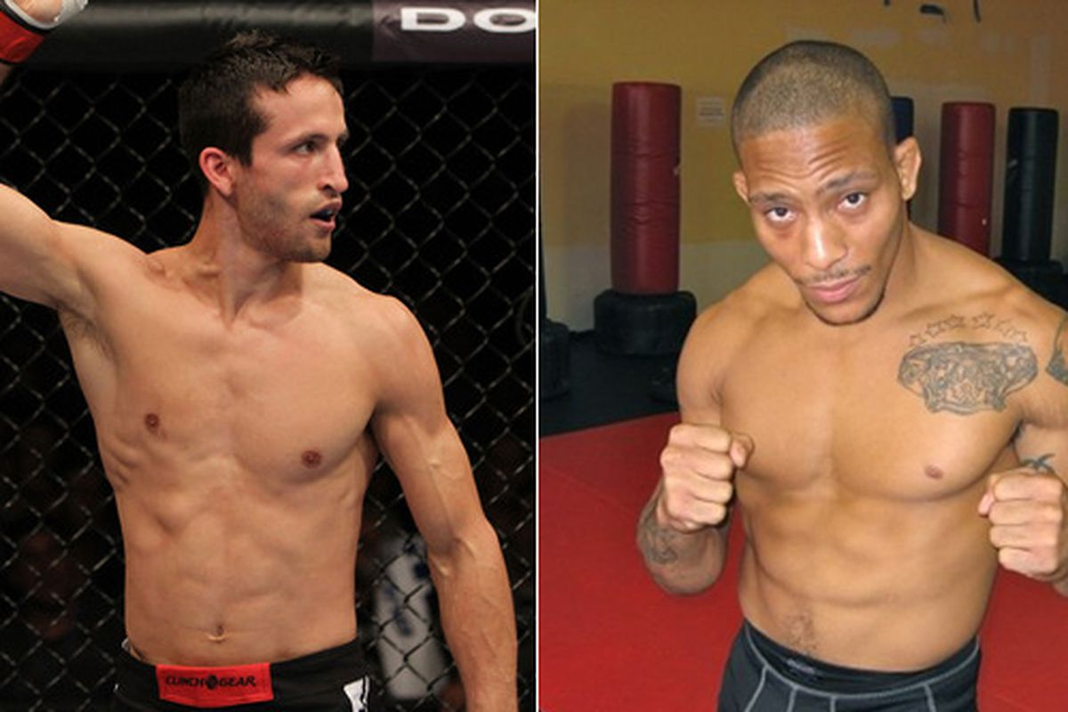 Ken Stone (left) looks to make it two in a row with a win over the crafty Mike Easton at UFC on FX on Jan. 20 in Nashville.