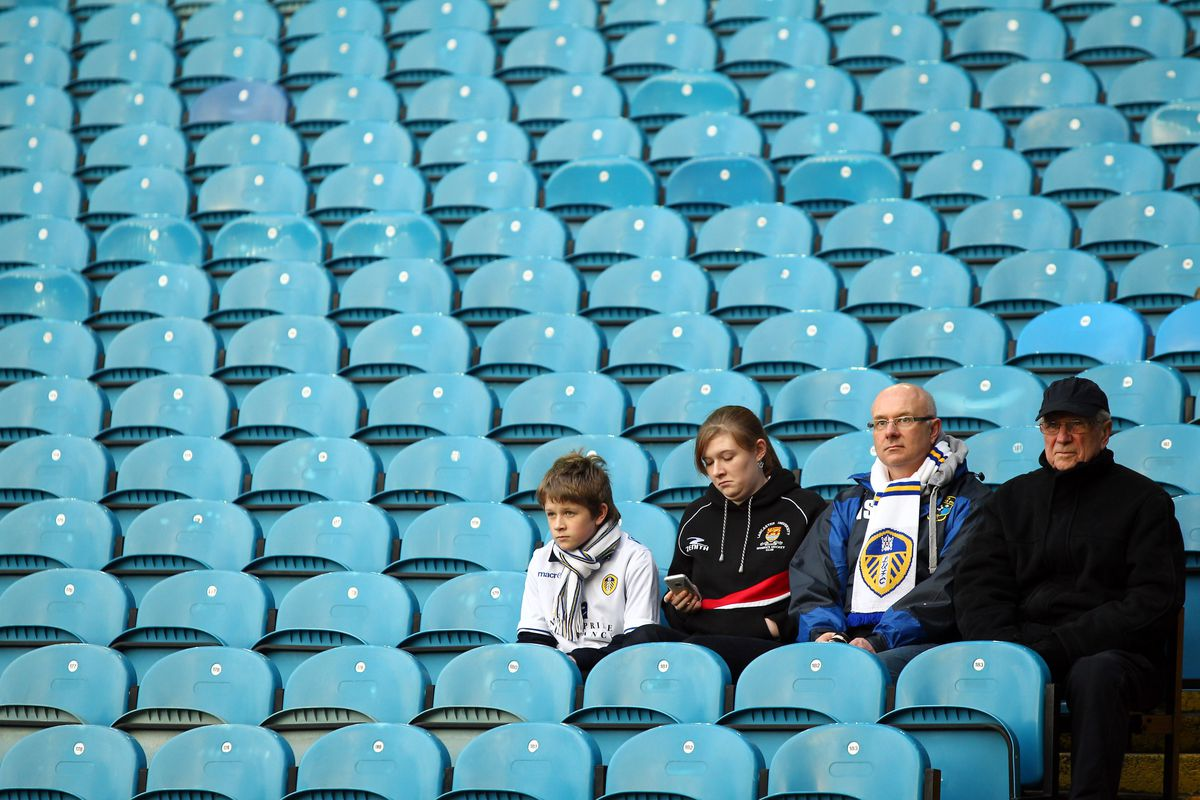 There were a few more than this at Elland Road, but not many.