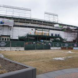 The west side of the ballpark, along Clark Street