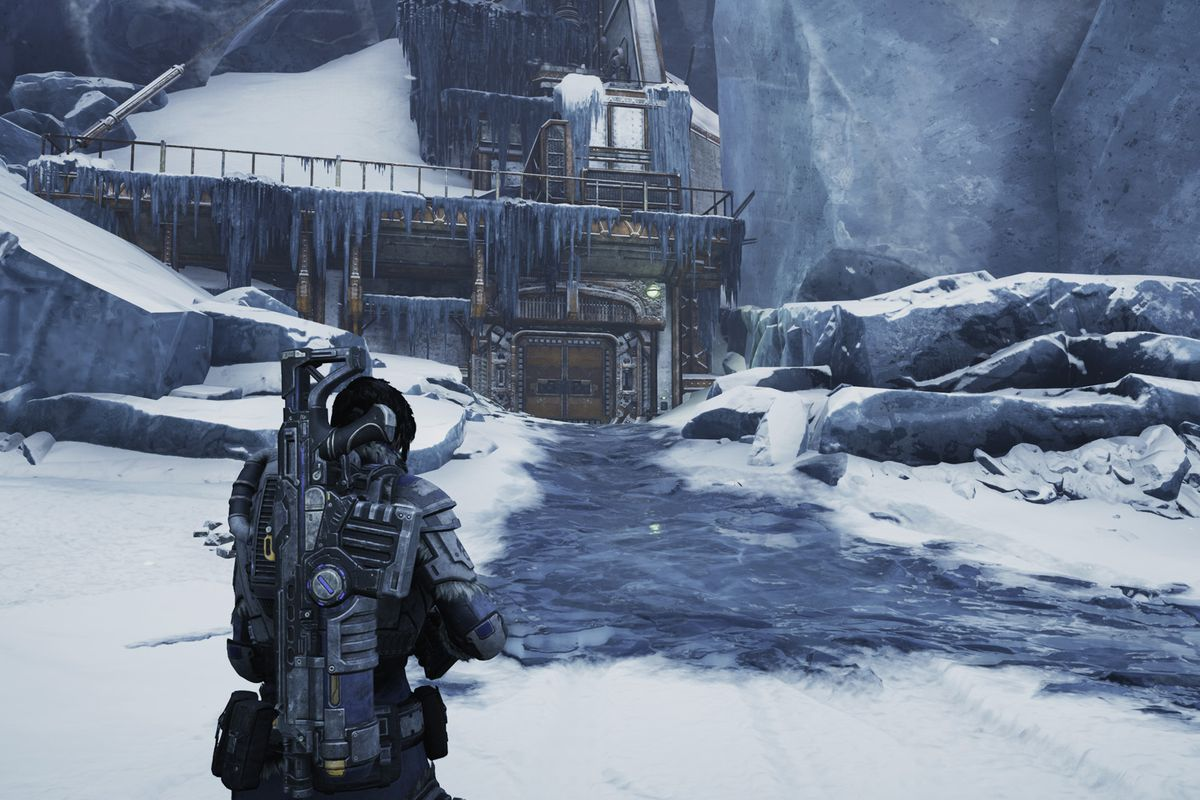 Gears 5 Act 2 – Chapter 4 The Source of It All East Comm Tower Substation