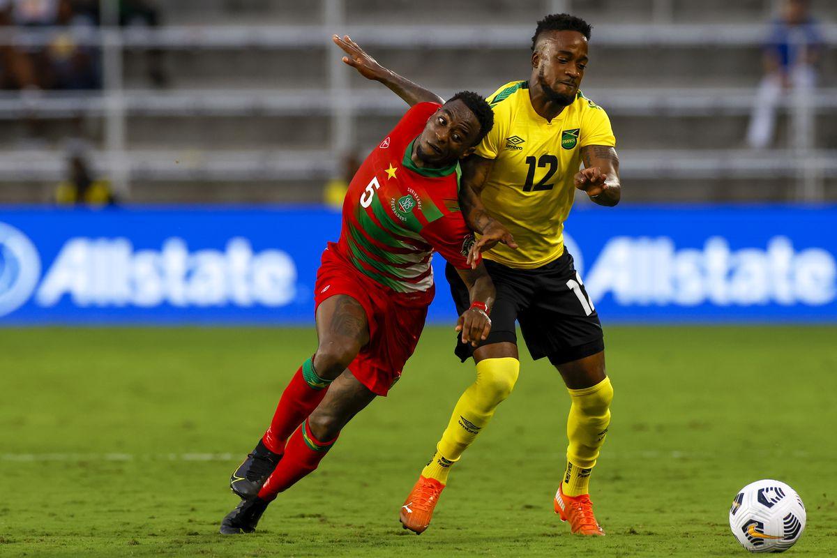SOCCER: JUL 12 Concacaf Gold Cup - Jamaica v Suriname