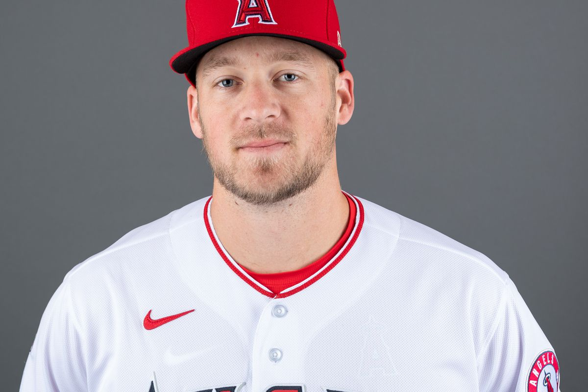 Ty Buttrey of the the Los Angeles Angels poses for a photo during Photo Day at Tempe Diablo Stadium on February 18, 2020 in Tempe, Arizona.