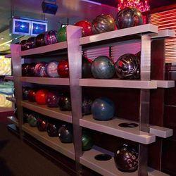 Bowling balls at Drink & Drag.