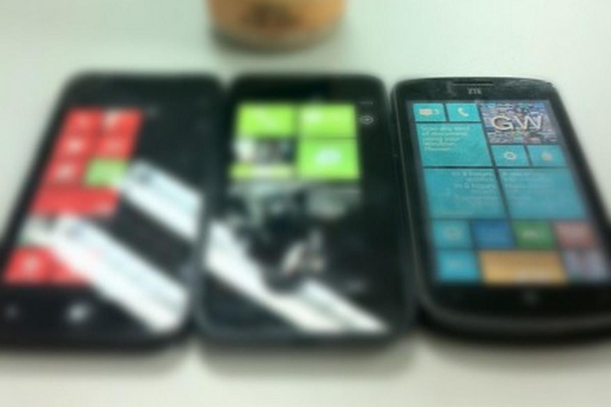 ZTE Windows Phone 8 handsets (Dennis Lui/Sina Weibo)