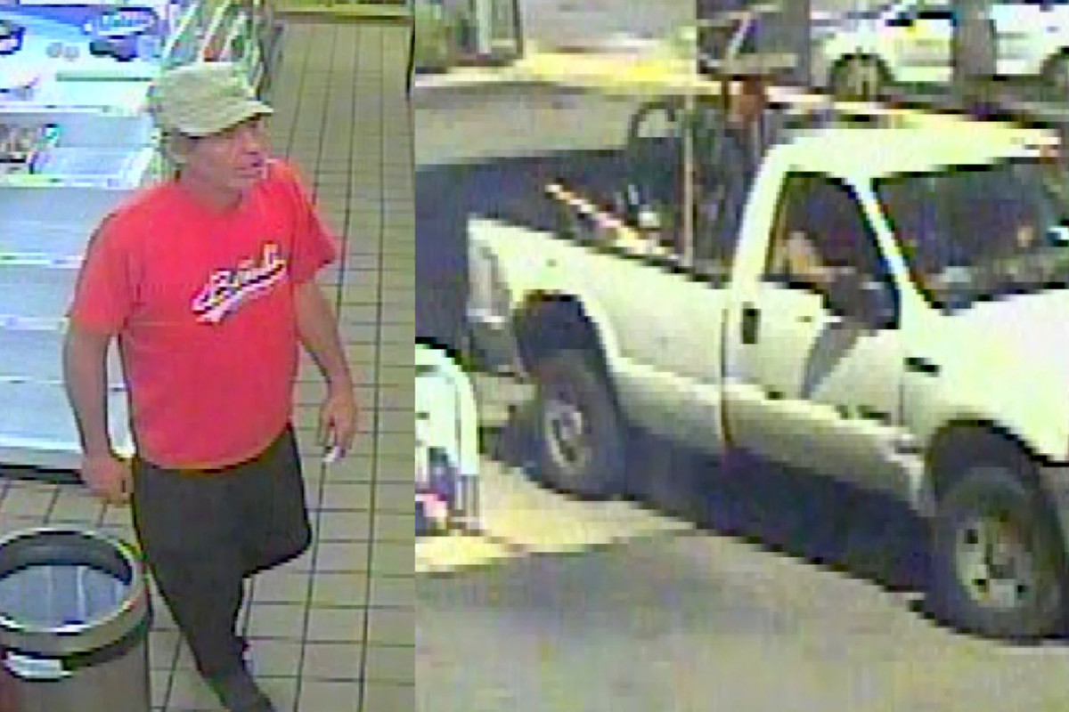 Surveillance video shows a man wanted by police for allegedly scalding a gas station employee June 7, 2020, in the 200 block of West 31st Street.