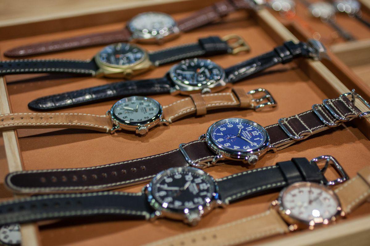 "Shinola watches. Image <a href=""http://www.hodinkee.com/blog/visit-to-shinola-detroit"">via</a>."