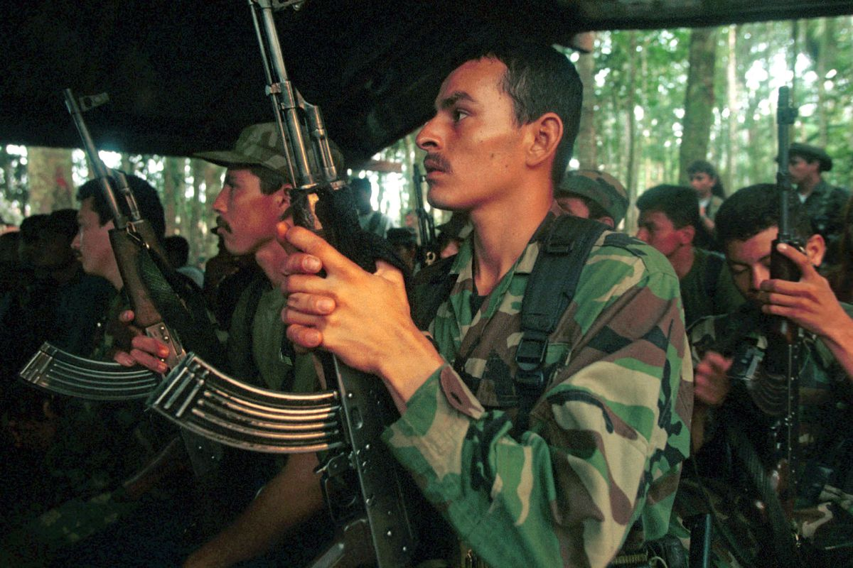 FARC soldiers in 2002.