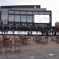 View of the ice rink looking north
