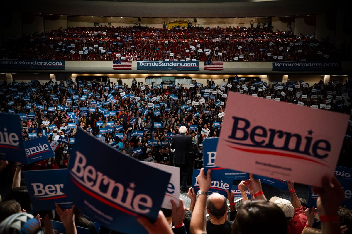 The crowd at a Sen. Bernie Sanders rally in El Paso, Texas, on February 22, 2020. Paul Ratje/AFP via Getty Images