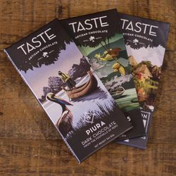 Taste Artisan Chocolate's packaging. The artisan chocolate company opened in Provo in 2014.
