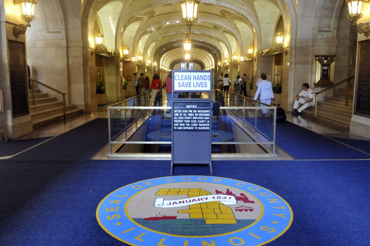 Chicago TIF revenue accounts for 38% of the total tax to be collected by the city. Cook County Building.