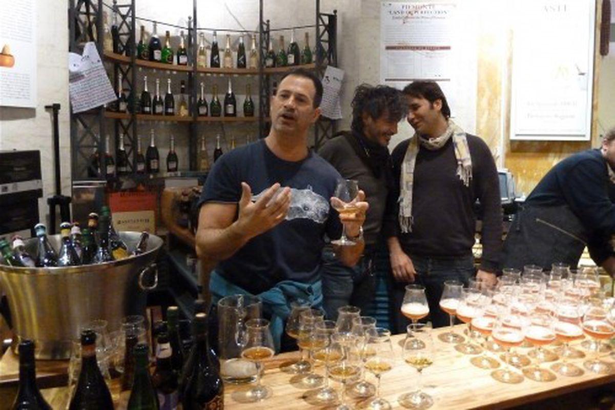 Left to right: Sam Calagione, Teo Musso and Leonardo Di Vincenzo.