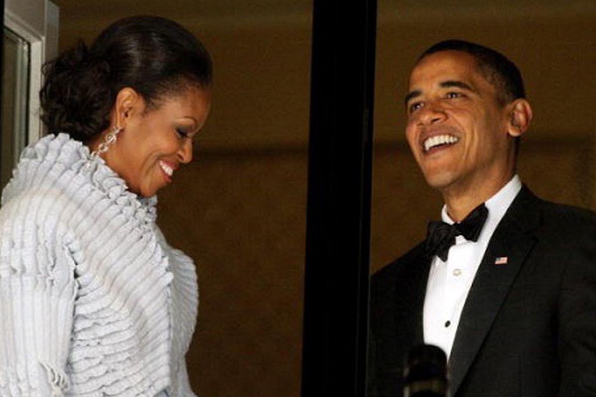 The Obamas, via Getty