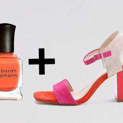 "Sunset Hues: <b>Deborah Lippmann</b> <a href=""http://www1.bloomingdales.com/shop/product/deborah-lippmann-laras-theme?ID=565288&PseudoCat=se-xx-xx-xx.esn_results"">Lara's Theme</a> + <b>Calvin Klein</b> <a href=""http://www1.bloomingdales.com/shop/product/c"