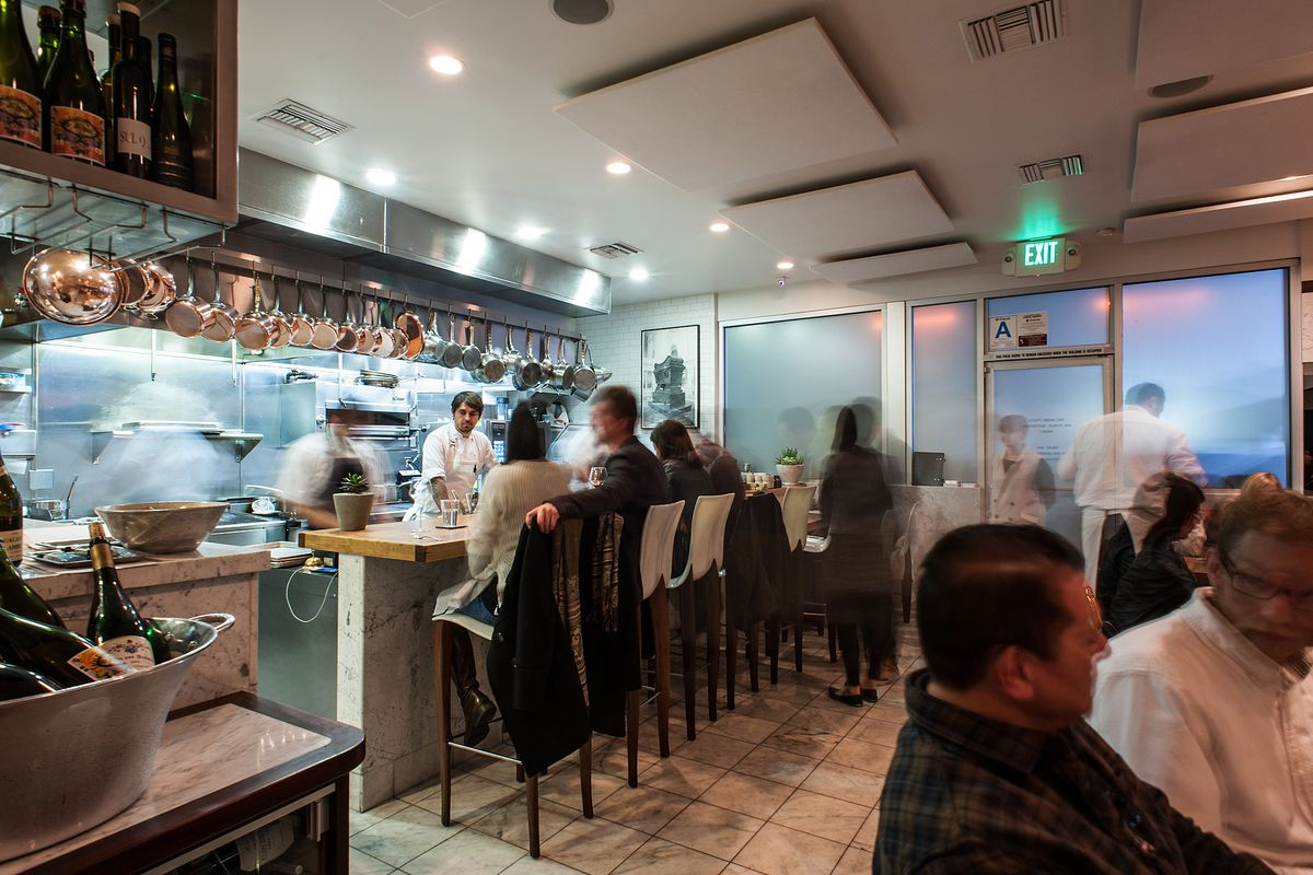 A busy night for diners at one of LA's best tasting menu restaurants.