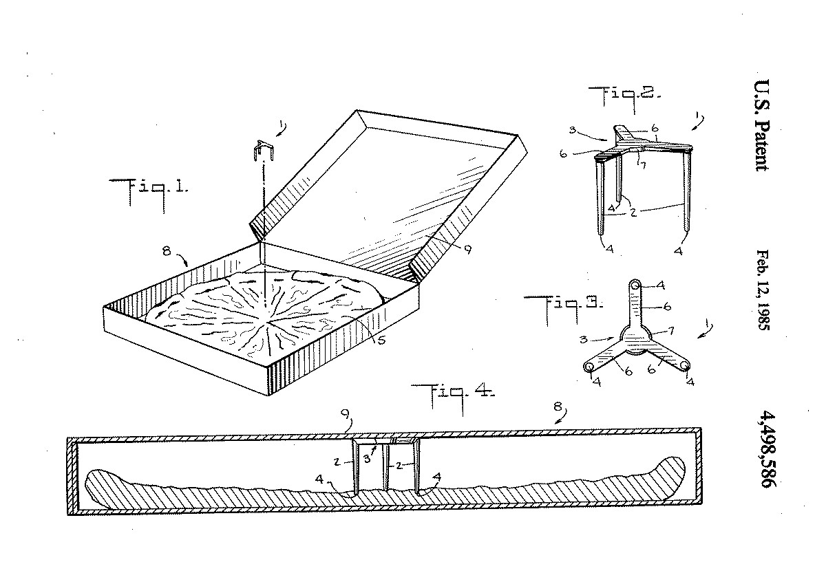 """Patent illustration for the """"package saver."""""""