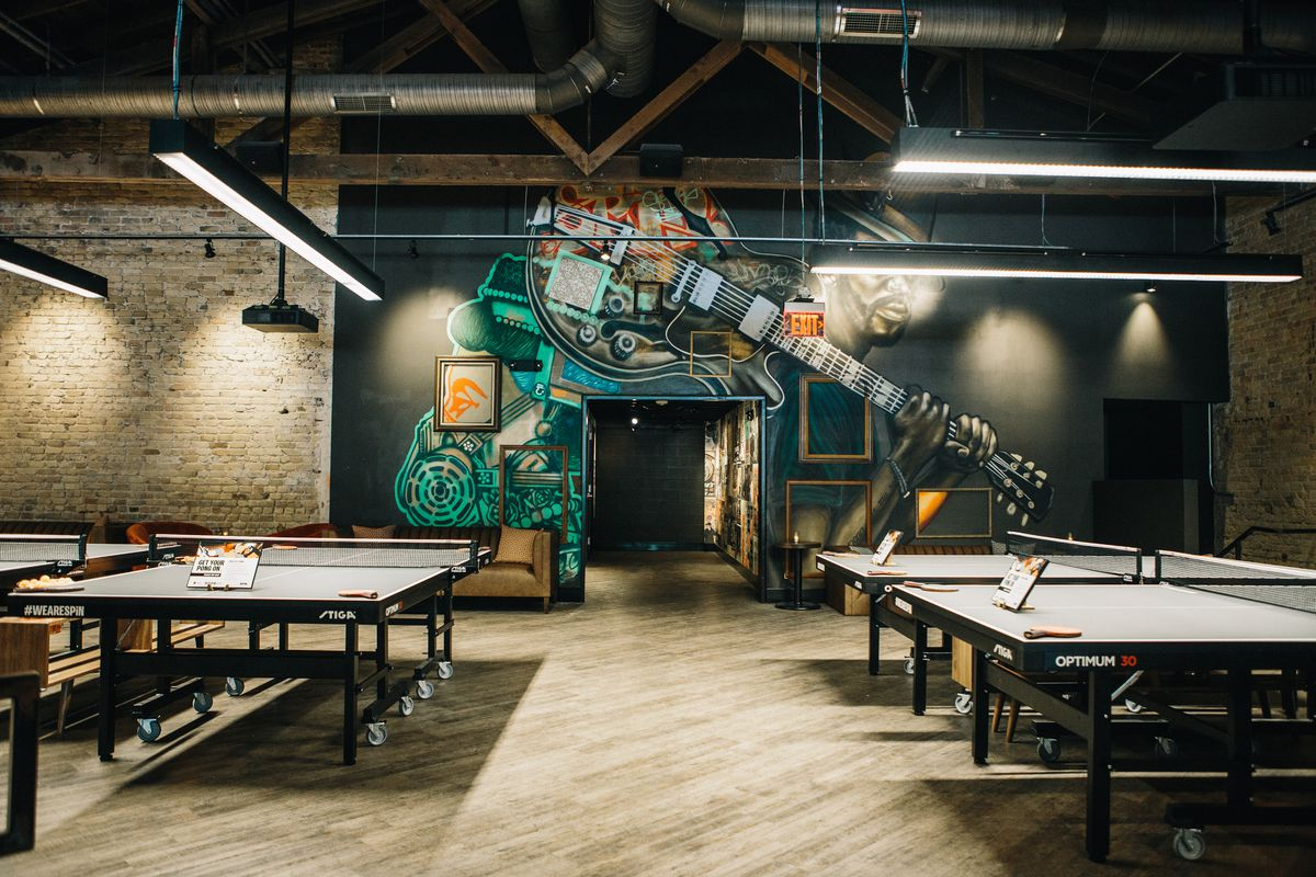 Spin's ping pong room
