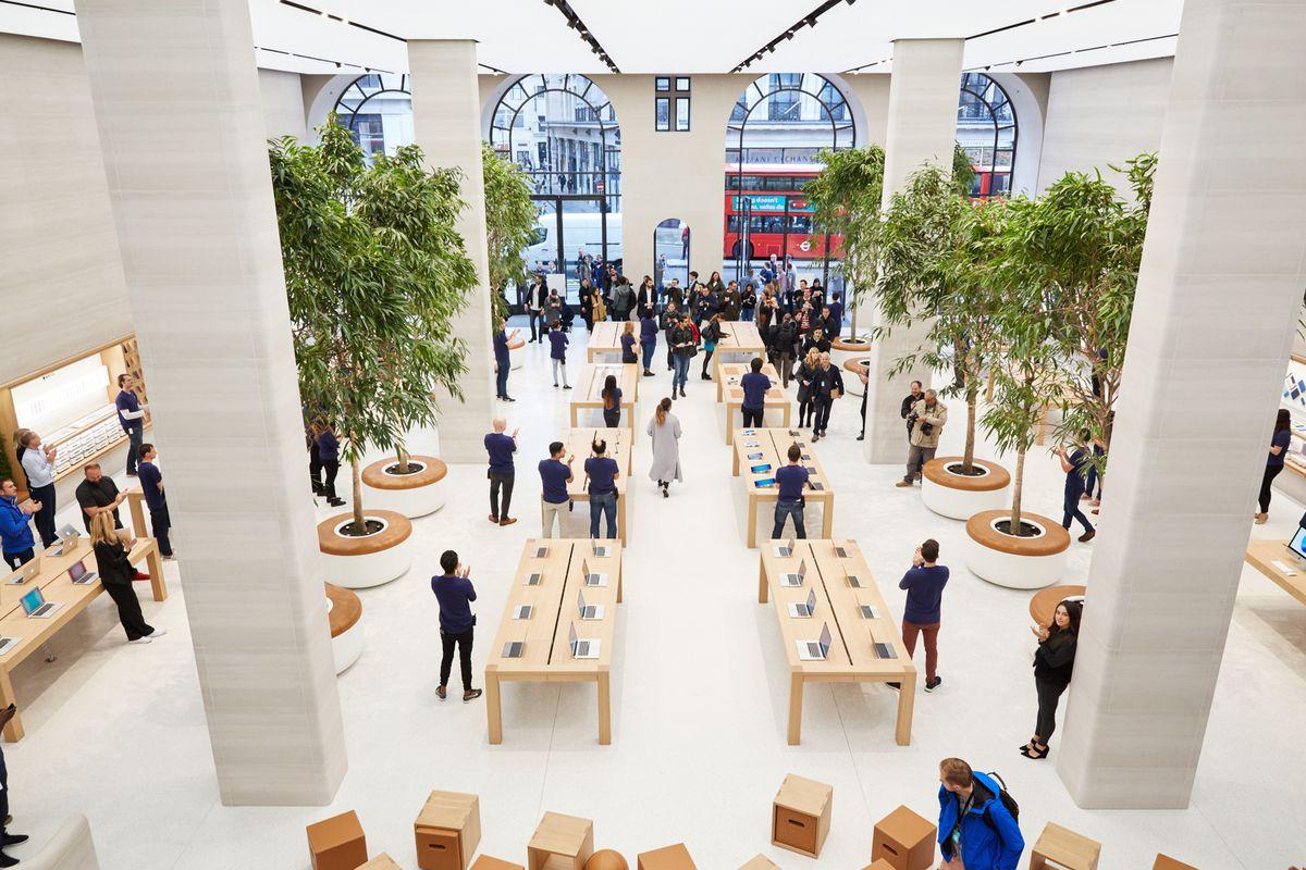 Apple's Regent Street store in London